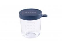 BEABA - Kelímek na jídlo skleněný 250ml tmavě modrý