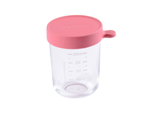 BEABA - Kelímek na jídlo skleněný 250ml tmavě růžový