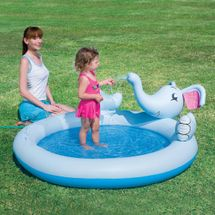 BESTWAY - dětský nafukovací bazén s rozprašovačem Happy Elephant