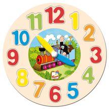 Bino - 13751 Hodiny-puzzle Krtek