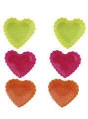 BLAUMANN - Forma silikonová srdce 6ks, BL-1267