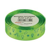 BREW - Stuha atlasová - velikonoční - světle zelená 25mm x 22m
