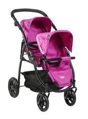 BRITAX - Kočárek pro panenky DUO Twin - Col. Hot Pink