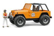 BRUDER - 02542 Jeep WRANGLER Cross Country oranžový s figurkou jezdce