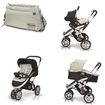 CASUALPLAY - Kočárek S4, autosedačka Baby 0plus, vanička Newmoon a Bag (2014)