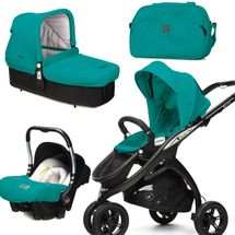 CASUALPLAY - Set kočárek Kudu 3 Black, autosedačka Baby 0plus, vanička Cot a Bag 2015 - ALLPORTS