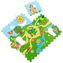 CHICCO - Hračka puzzle pěnové Hrad 30x30cm 9ks