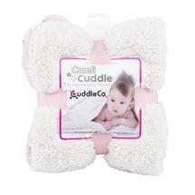 CUDDLEME - CUDDLECO Super měkká oboustranná dětská deka, Blush