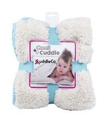 CUDDLEME - CUDDLECO Super měkká oboustranná dětská deka, Tiffany blue