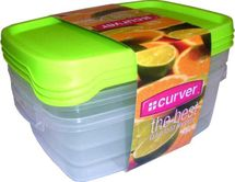 CURVER - Sada dóz na potraviny 3 x 1,2 l obdélník