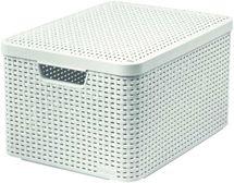 CURVER - Úložný box s víkem STYLE L, krémový