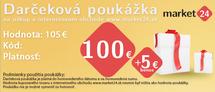 Dárková poukázka - 100 EUR + 5 EUR Bonus