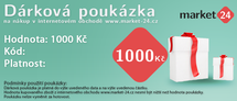 Dárková poukázka - 1000 Kč