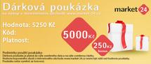 Dárková poukázka - 5000 Kč + bonus 250 Kč