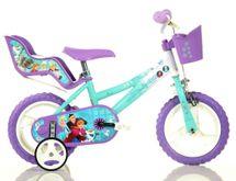 """DINO BIKES - Dětské kolo - 12 """"126RLFZ2 se sedačkou pro panenku a košíkem s licencí Frozen"""