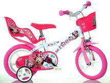 "DINO BIKES - Dětské kolo - 12 ""612LNN se sedačkou pro panenku a košíkem s licencí Minnie"