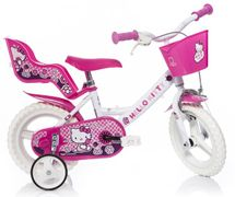 DINO BIKES - Dětské kolo 124RLHK Hello Kitty se sedačkou pro panenku a košíkem - 12