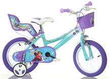 """DINO BIKES - Dětské kolo - 14 """"146RFZ2 Frozen se sedačkou pro panenku a košíkem"""