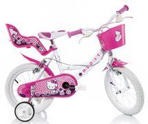 DINO BIKES - Dětské kolo 144RHK Hello Kitty se sedačkou pro panenku a košíkem - 14