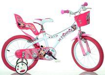 """DINO BIKES - Dětské kolo - 16 """"616NN Minnie se sedačkou pro panenku a košíkem"""