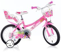 DINO BIKES - Dětské kolo 166R se sedačkou pro panenku a košíkem - 16