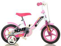 """DINO BIKES - Dětské kolo Dino 108FLG - 10 """"Girl s brzdou"""