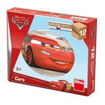 DINOTOYS - Dřevěné kostky Cars ve světě 12 ks