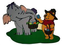DISNEY - Slůně s Pooh s košíkem