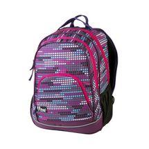 EASY - Batoh školní-sportovní - tečky - růžové zipy
