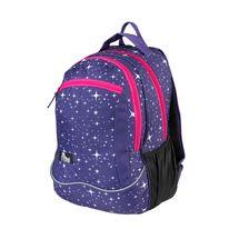 EASY - Batoh školní-sportovní - hvězdy - růžové zipy