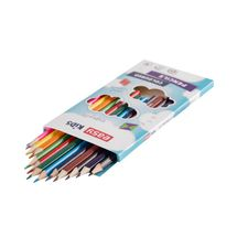 EASY - EasyColours dřevěné pastelky  trojhranné 12 ks/sada