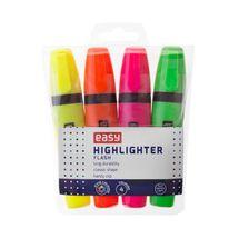EASY - FLASH-zvýrazňovač, mix 4 barvy (zelená, oranžová, žlutá, růžová)