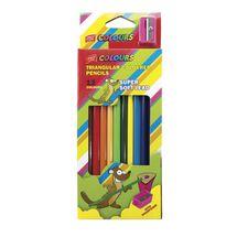 EASY - Trojhranné pastelky  12 ks s ořezávátkem nelámavé
