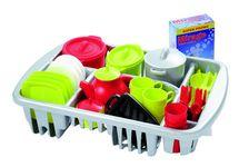 ECOIFFIER - Velká sada nádobí s odkapávačem