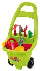 ECOIFFIER - Zahradní vozík s nářadím, květináči a konvičkou