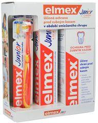 ELMEX - Junior Systém (zubní pasta 75ml, ústní voda 400ml, zubní kartáček)