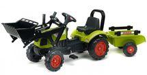 FALK - FALK Šlapací traktor 2040 Claas s nakladačem a vlečkou
