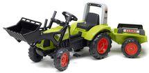 FALK - Šlapací traktor 1040 Clas Arion 430 s nakladačem a vlečkou