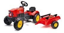 FALK - Šlapací traktor 2030AB Supercharger červený s vlečkou