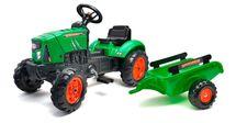FALK - Šlapací traktor 2031AB Supercharger zelený s vlečkou