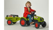 FALK - Šlapací traktor 2040B Claas Arion 410 s vlečkou