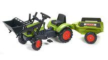 FALK - Šlapací traktor 2040M Claas Arion 410 s nakladačem a vlečkou