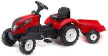 FALK - Šlapací traktor 2058J Garden master červený s vlečkou