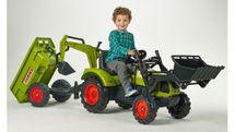 FALK - Šlapací traktor 2070Z Claas Arion 430 s nakladačem, rypadlem a vlečkou