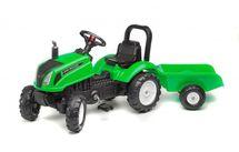 FALK - Šlapací traktor 3083AD Land Master zelený s vlečkou