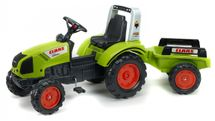 FALK - Šlapací traktor1040AB Claas Arion 430 s vlečkou