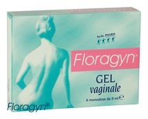 FLORAGYN - Vaginální lubrikační gel 6 x 9 ml