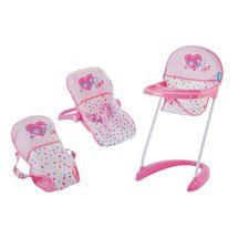 HAUCK - Autosedačka, jídelní židlička, nosítko - srdíčka