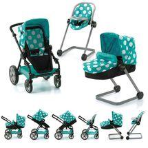 HAUCK - Set pro panenky I'coo - kočárek, autosedačka, židlička na krmení - aqua