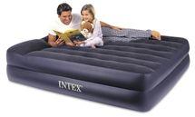 INTEX - nafukovací postel 64124 Raised Pillow QUEEN s integrovanou elektrickou pumpou